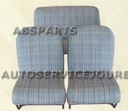 Citroën 2CV Symetrische stoelen en achterbank bekledingset (