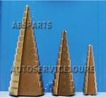 3 Delige stappenboren  4-30mm (Titanium)